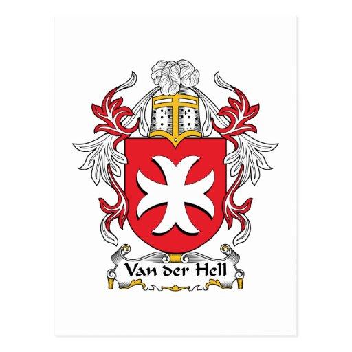Van der Hell. Escudo de la familia Tarjetas Postales