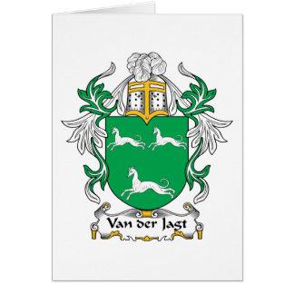 Van der Jagt Family Crest Card
