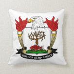 Van der Kemp Family Crest Pillow
