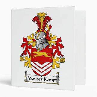 Van der Kemp Family Crest Vinyl Binders