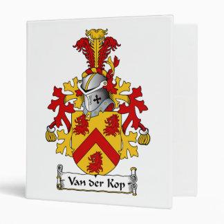 Van der Kop Family Crest 3 Ring Binder