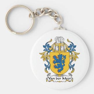 Van der Meer Family Crest Basic Round Button Keychain
