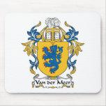 Van der Meer Family Crest Mouse Pad