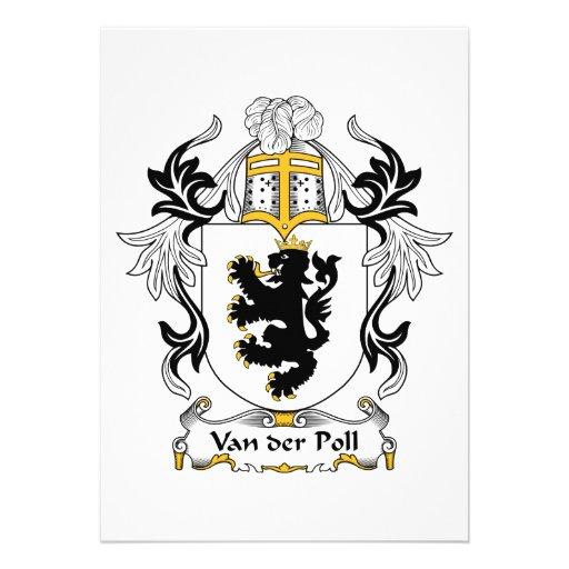Van der Poll Family Crest Personalized Announcement