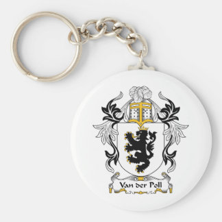 Van der Poll Family Crest Keychains