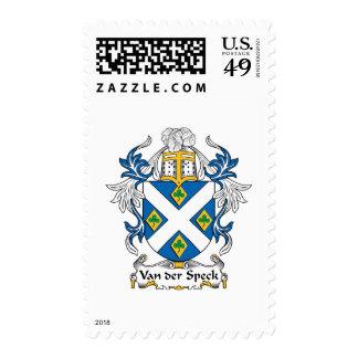Van der Speck Family Crest Postage