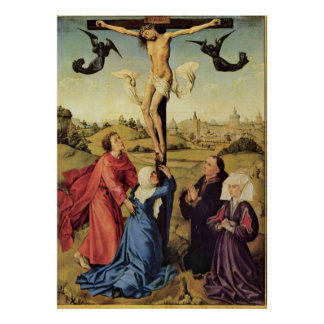 van der Weyden, Jesus on the Cross Canvas Print