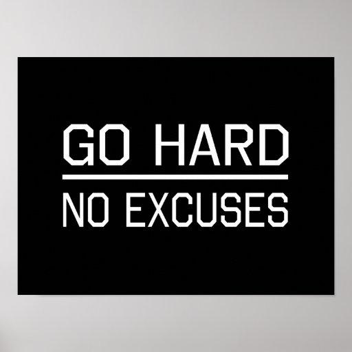 Van difícilmente ningunas excusas posters