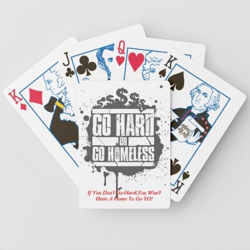 Van difícilmente o van los naipes sin hogar cartas de juego