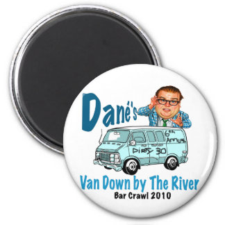 Van Down by the River Crawl 2 Inch Round Magnet