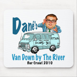 Van Down by the River Crawl Mousepad