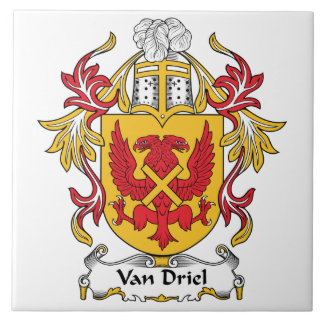 Van Driel Family Crest Ceramic Tile