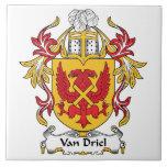 Van Driel Family Crest Tile