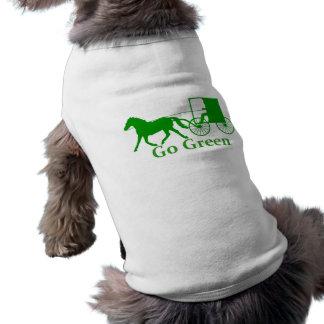 Van el caballo verde, de Amish y el cochecillo Playera Sin Mangas Para Perro