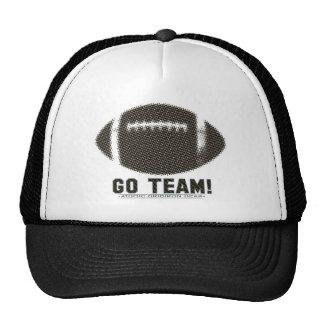 Van el negro y el oro del equipo gorras