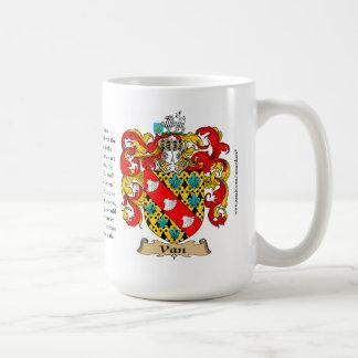 Van, el origen, el significado y el escudo tazas de café