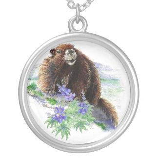 Van en peligro, marmota de la isla   - naturaleza colgante redondo