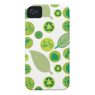 Van favorables al medio ambiente verdes iPhone 4 funda
