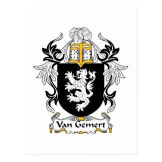 Van Gemert Family Crest Post Card
