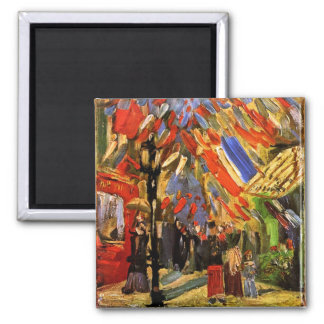 Van Gogh - 14th Of July Celebration In Paris 2 Inch Square Magnet
