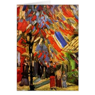 Van Gogh - 14th Of July Celebration In Paris Greeting Card