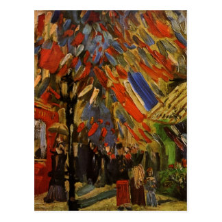 Van Gogh 14th of July Celebration in Paris Post Card
