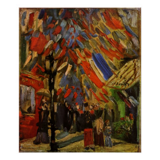 Van Gogh; 14th of July Celebration in Paris Poster