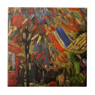 Van Gogh; 14th of July Celebration in Paris Small Square Tile