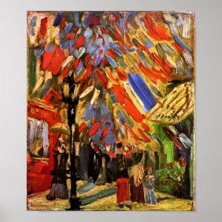 Van Gogh 14to de la celebración de julio en el pos Posters