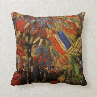 Van Gogh; 14to de la celebración de julio en París Almohada