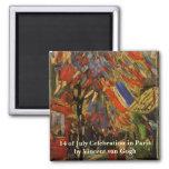 Van Gogh; 14to de la celebración de julio en París Imán De Nevera