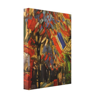 Van Gogh; 14to de la celebración de julio en París Impresión En Lona