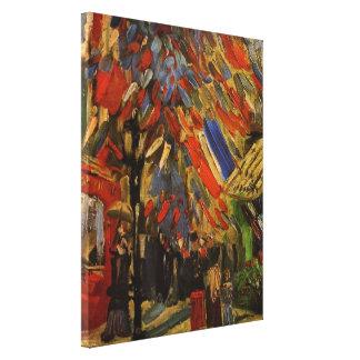Van Gogh; 14to de la celebración de julio en París Lona Envuelta Para Galerías
