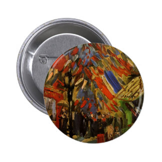 Van Gogh; 14to de la celebración de julio en París Pin Redondo De 2 Pulgadas