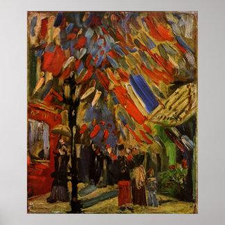 Van Gogh; 14to de la celebración de julio en París Póster