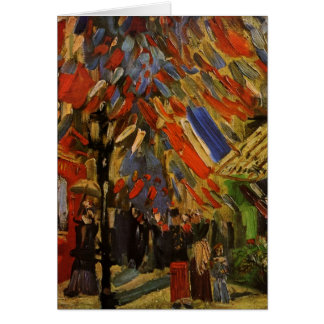 Van Gogh; 14to de la celebración de julio en París Tarjeta De Felicitación