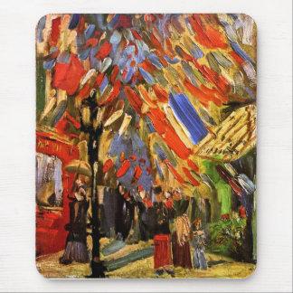 Van Gogh - 14to de la celebración de julio en Tapetes De Ratón