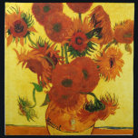 "Van Gogh 15 Sunflowers Cloth Napkin<br><div class=""desc"">Van Gogh 15 Sunflowers</div>"