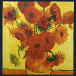 "Van Gogh 15 Sunflowers Cloth Napkin<br><div class=""desc"">Van Gogh 15 Sunflowers</div>"