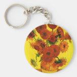 Van Gogh 15 Sunflowers Key Chain