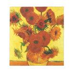 Van Gogh 15 Sunflowers Memo Notepads