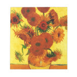 Van Gogh 15 Sunflowers Note Pad