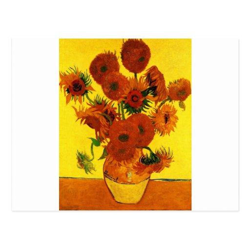 Van Gogh 15 Sunflowers Postcard