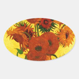 Van Gogh 15 Sunflowers Stickers
