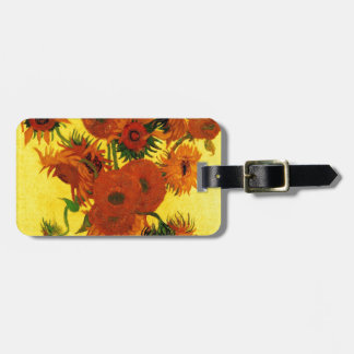 Van Gogh 15 Sunflowers Tag For Luggage
