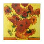 "Van Gogh 15 Sunflowers Tile<br><div class=""desc"">Van Gogh 15 Sunflowers</div>"