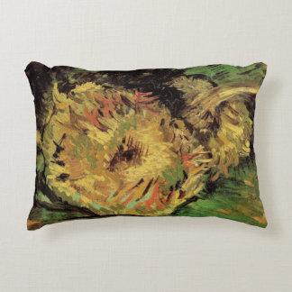 Van Gogh 2 Cut Sunflowers, Vintage Floral Fine Art Accent Pillow