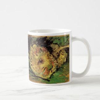 Van Gogh 2 Cut Sunflowers, Vintage Floral Fine Art Coffee Mug