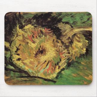 Van Gogh 2 Cut Sunflowers, Vintage Floral Fine Art Mouse Pad