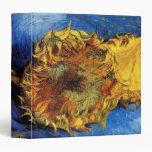 Van Gogh, 2 Cut Sunflowers, Vintage Floral Flowers Binder